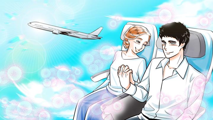 手をつないで幸せなカップルのイラスト